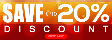 Save up to 20% on selected items